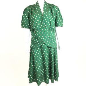 eShakti Green Floral Retro Dress 3X 22W